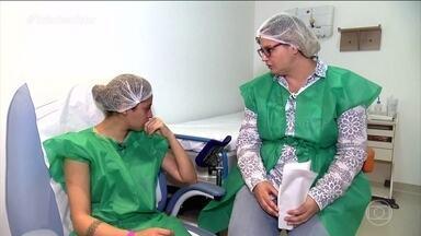 Priscila descobre se conseguiu engravidar - A Priscilla vai fazer os exames. Já a Fernanda, que está grávida, pode estar esperando dois bebês.