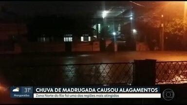Moradores registram alagamentos em ruas da Zona Norte do Rio - Moradores registram alagamentos em ruas da Zona Norte do Rio