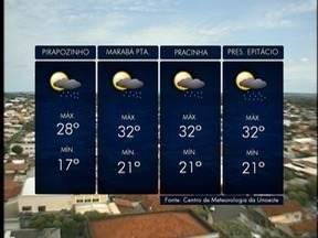 Meteorologia prevê chuva para esta quinta-feira - Confira como ficam as temperaturas.