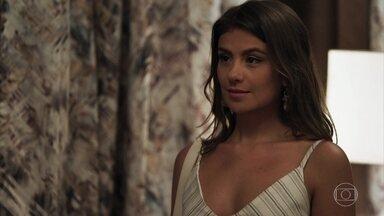 Tônia revela a Bruno que está grávida dele na frente de Raquel - O delegado exige que a médica assine os papéis do divórcio e se surpreende com revelação