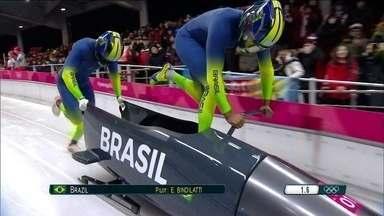 Brasileiros se classificam no bobsled trenó para dois pela primeira vez - Time brasileiro foi vigésimo sétimo.