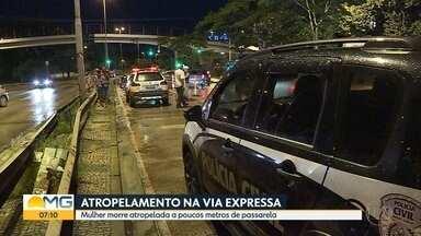 Mulher morre atropelada por moto na Via Expressa de Belo Horizonte - Acidente foi na altura do bairro Gameleira.