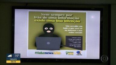 TRE-PE lança ofensiva contra notícias falsas no período eleitoral - Campanha abre canais para denúncias e promove conscientização dos eleitores