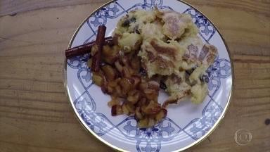 Omelete com passas e calda de chocolate - Aprenda essa novidade