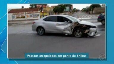 Três pessoas são atropeladas em ponto de ônibus durante um racha no centro de Cuiabá - Três pessoas são atropeladas em ponto de ônibus durante um racha no centro de Cuiabá