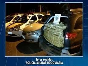 Polícia Militar Rodoviária apreende mais de 830 quilos de maconha em carro - Ocorrência foi em Presidente Venceslau