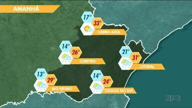 Chuva deve se intensificar em Curitiba durante a semana - Nas praias, a temperatura pode chegar aos 31ºC no domingo.