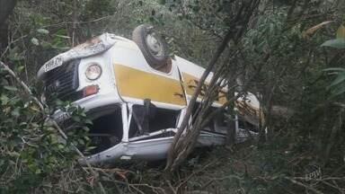 Motorista pode ter cochilado em acidente com Kombi cheia de crianças no Sul de Minas - Motorista pode ter cochilado em acidente com Kombi cheia de crianças no Sul de Minas, diz polícia