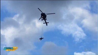 Homem é resgatado por helicóptero no Pico do Marumbi, em Morretes - O homem fraturou o fêmur enquanto fazia a caminhada.