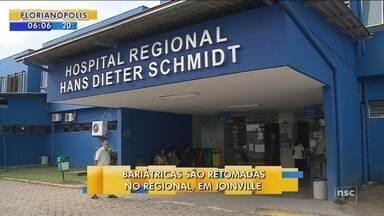Cirurgias bariátricas são retomadas no Hospital Regional, em Joinville - Cirurgias bariátricas são retomadas no Hospital Regional, em Joinville