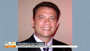 Advogado é assassinado em assalto na Tijuca - Testemunhas comntam que ele não reagiu, mas ban didos em moto atiraram assim mesmo