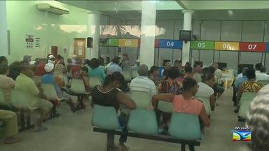 Pacientes enfrentam filas em central de marcação de consulta em São Luís - Situação acontece na central de marcação de consulta do bairro Alemanha, na capital.