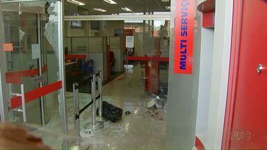 Dois fugitivos de Maringá são presos por suspeita de assalto a banco - Durante o assalto uma funcionária do banco e um policial ficaram feridos