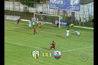 Parauapebas e Cametá empatam em 1 a 1 no Rosenão - Resultado do confronto pela sétima rodada do Parazão manteve as equipes nas últimas colocações dos respectivos grupos