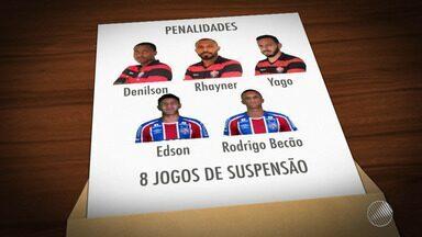 STJD pune quatro jogadores do Vitória, três do Bahia e técnico Vagner Mancini é absolvido - O julgamento aconteceu na noite de terça-feira (27), no Tribunal de Justiça Desportiva da Bahia.