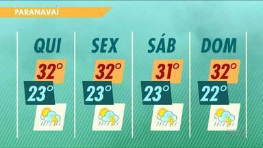 Chuva deve permanecer em Paranavaí até o fim de semana - Primeiro fim de semana da ExpoParanavaí deve ser realizado debaixo de água