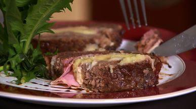 Bolo de carne - Bacon e mel estão entre os ingredientes.