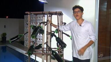 Jovem de 16 anos criou um aparelho simples e de baixo custo para purificar a água - Estudante mora em Juazeiro do Norte.