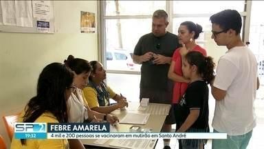 Vacinação na região do ABC fica abaixo da meta esperada pelo governo - Governo prorroga campanha de vacinação até 17 de março. A região atingiu 44% da meta de imunização