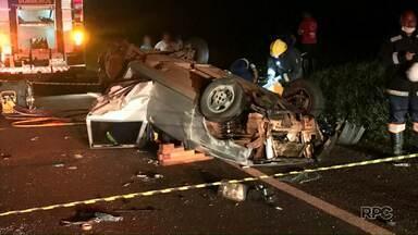 Animal solto na rodovia provoca acidente - Cinco pessoas ficaram feridas