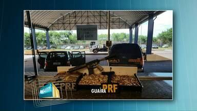 PRF apreende fuzil, carregadores e 4.250 cartuchos de munição - Foi durante uma fiscalização em Guaíra. Policiais desconfiaram do nervosismo do motorista.