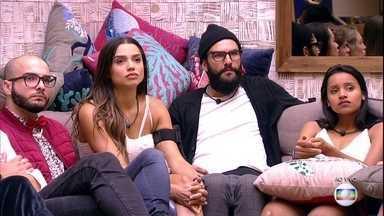 Big Brother Brasil 18 - Programa de domingo, dia 04/03/2018, na íntegra - Novo Paredão é formado com Mahmoud, Paula e Gleici