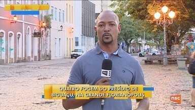 Quatro detentos fogem do Presídio Regional de Biguaçu - Quatro detentos fogem do Presídio Regional de Biguaçu