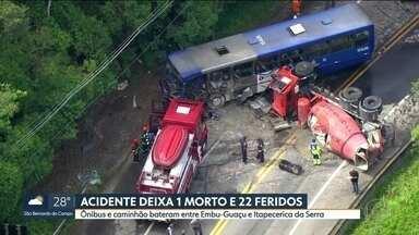 SP1 - Edição de terça-feira, 06/003/2018 - Um grave acidente matou o passageiro de um ônibus da EMTU que ia pra Itapecerica da Sera. Embu das Artes tem um novo prefeito a partir desta terça. E mais as notícias da manhã.