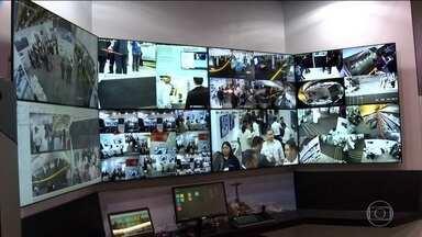 Novidades da indústria de segurança numa feira em São Paulo - Drones, câmeras e sistemas de acesso são algumas das tecnologias apresentadas na feira.