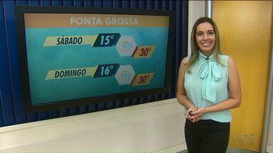 Fim de semana será com chuva e temperaturas altas nos Campos Gerais - No sábado, a máxima chega aos 30 graus.