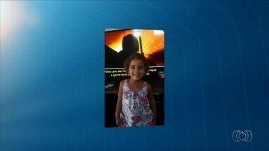 Menina chama o intervalo do JA 1ª Edição - Manuela gravou um vídeo em frente à TV e enviou para o telejornal.