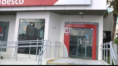 Agência bancária é arrombada em João Pessoa - Por causa do alarme, os bandidos fugiram sem levar nada.