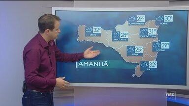Veja como ficará o tempo em todas as regiões de SC neste sábado (10) - Veja como ficará o tempo em todas as regiões de SC neste sábado (10)