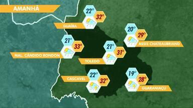 Pancadas de chuva são esperadas para a região no fim de semana - A previsão muda a partir de segunda-feira, quando o tempo deve ficar firme.