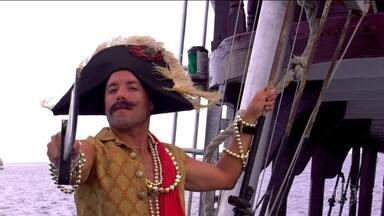 """Mineirinho e cia se vestem de piratas para o """"Nas Ondas"""" do Esporte Espetacular - Mineirinho e cia se vestem de piratas para o """"Nas Ondas"""" do Esporte Espetacular"""