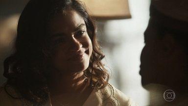 Eunice pede que Isolina seja sua parteira - Ela fica honrada e agradecida pelo convite