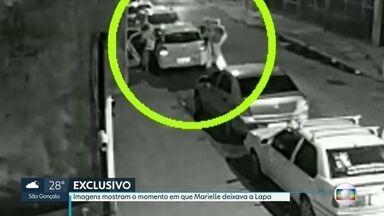 Imagens mostram o momento em que Marielle deixava a Lapa - Balas que mataram vereadora e o motorista dela foram compradas em 2006 pela Polícia Federal.