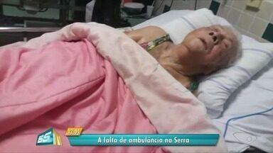 Idosa de 91 anos não consegue transferência de UPA por falta de ambulância, no ES - Ela está no UPA da Serra Sede e já conseguiu vaga em vários hospitais.