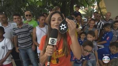 GE na Praça: Carina Pereira convida moradores de Ribeirao das Neves para um desafio - GE na Praça: Carina Pereira convida moradores de Ribeirao das Neves para um desafio