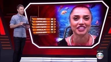 Oitavo Paredão: Paula vota em Caruso - Oitavo Paredão: Paula vota em Caruso
