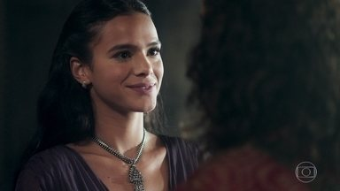 Catarina avisa a Rodolfo que não irá a inauguração de sua estátua - Ela explica que o povo precisa de mais tempo para aceitá-la