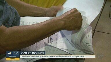 Jardineiro descobre que falsário se aposentou no lugar dele em Viradouro, SP - Polícia Civil investiga há quanto tempo golpe vem sendo aplicado.
