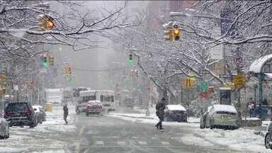 Nevasca marca o início da primavera nos Estados Unidos - A primavera chegou gelada nos Estados Unidos, trazendo problemas para muita gente - e diversão para quem gosta da neve.
