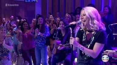 Paula Toller canta 'Céu Azul' - Cantora apresenta nova música de trabalho no palco do 'Encontro'