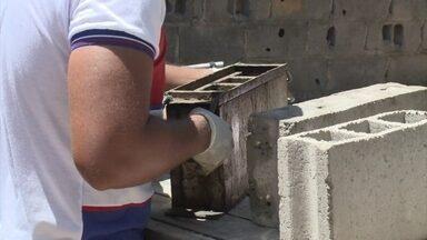 Cascas de mariscos são usadas para fazer tijolos - Casas sustentáveis são construídas com tijolos ecológicos