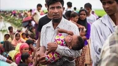 A vida de refugiado dos rohingyas, um povo muçulmano