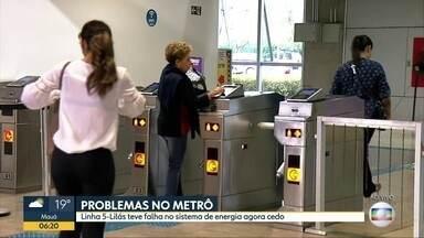 Esatação Santo Amaro do Metrô chegou a ficar fechada hoje cedo - Problema no sistema de energia da estação obrigou o Metrô a fechar a estação da linha 5-Lilás, na zona sul da capital