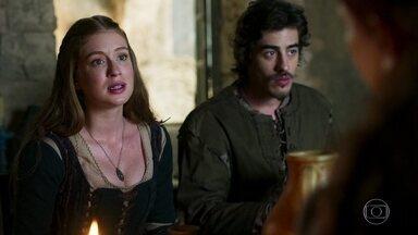 Amália conta que pediu a Afonso para irem embora de Montemor - Constância acredita que Afonso não será feliz em outro lugar