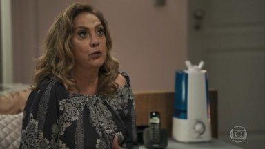 Nádia promete infernizar Raquel se Bruno reatar com a juíza - O delegado implora que a mãe converse com Raquel, mas Nádia afirma que não vai admitir o filho casado com uma mulher negra