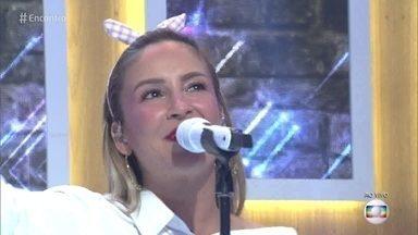 Claudia Leitte canta 'Baldin de Gelo - Cantora abre o 'Encontro' com sucesso